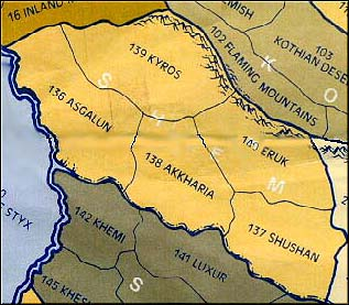 The provinces of Shem