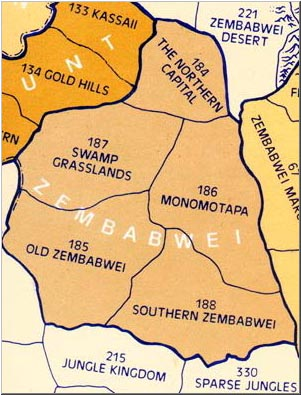 The provinces of Zembabwei