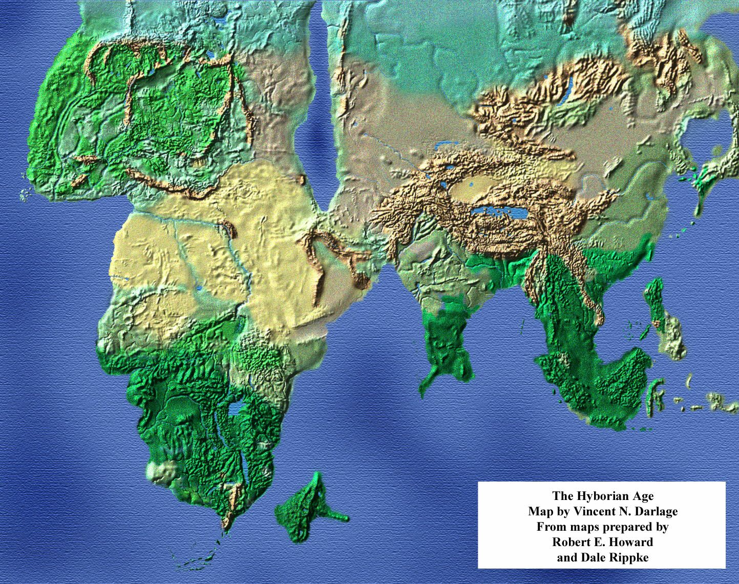 Maps of the Hyborian Age